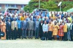 Ghana Science Association group photo with the Minister of Environment Science & Technology