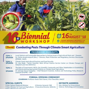 16TH BIENNIAL WORKSHOP : Combating Pests through Climate Smart Agriculture