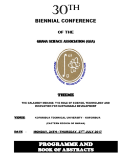 30th BIENNIAL CONFERENCE BOOK OF ABSTRACT pic