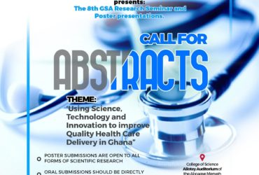 8TH GHANA SCIENCE ASSOCIATION RESEARCH SEMINAR AND POSTER PRESENTATIONS  CALL FOR ABSTRACTS